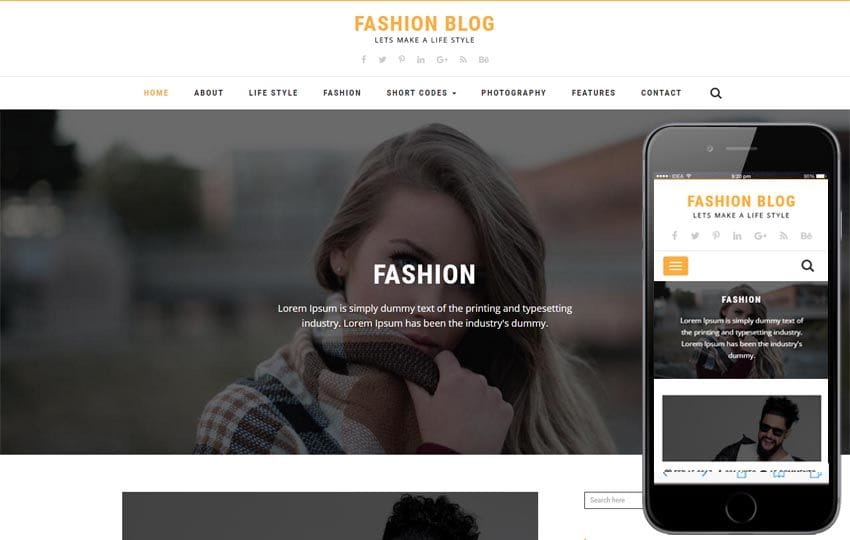 Fashion Blog a Blogging Flat Bootstrap Responsive Web Template - fashion blogger templates