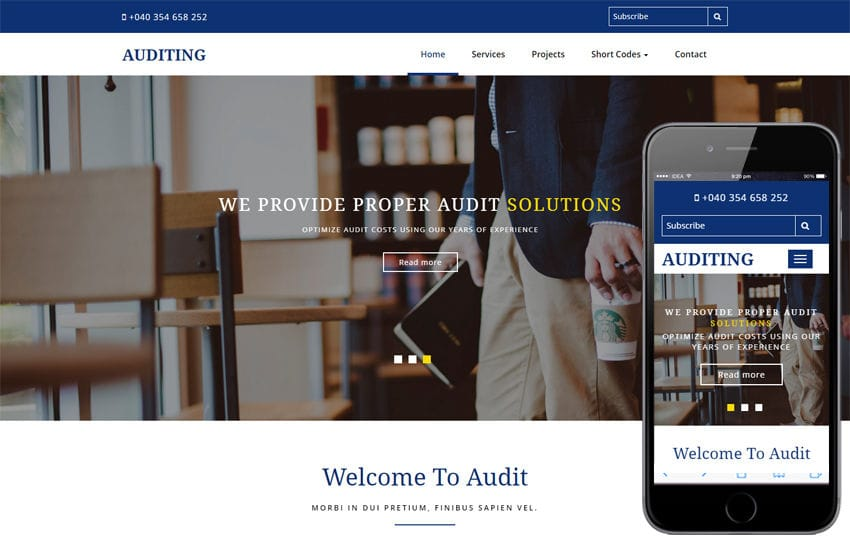 Auditing a Corporate Category Bootstrap Responsive Web Template - audit templates free