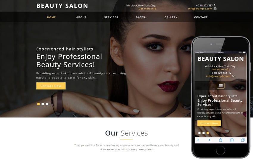 Beauty Salon a Beauty Category Bootstrap Responsive Web Template