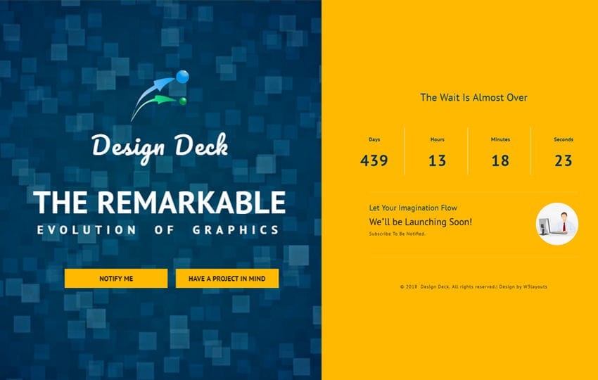 Design Deck Flat Responsive Widget Template - templates