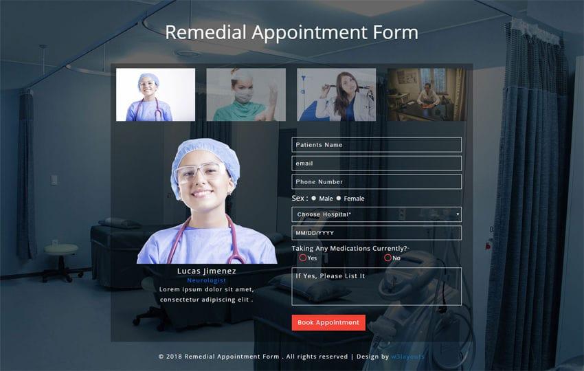 Medical Hospital Healthcare Mobile Website Templates