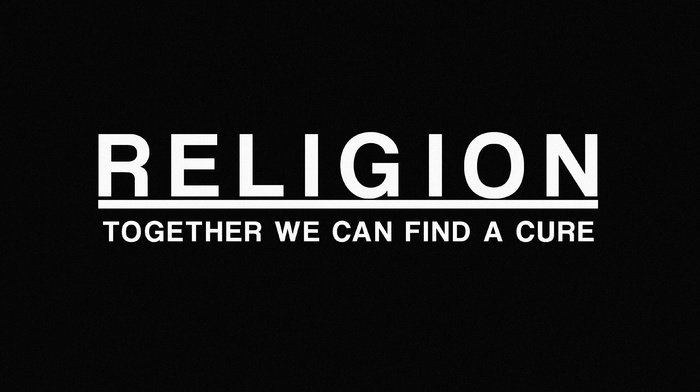 quote, atheism, dark, simple background, religions - wallpaper