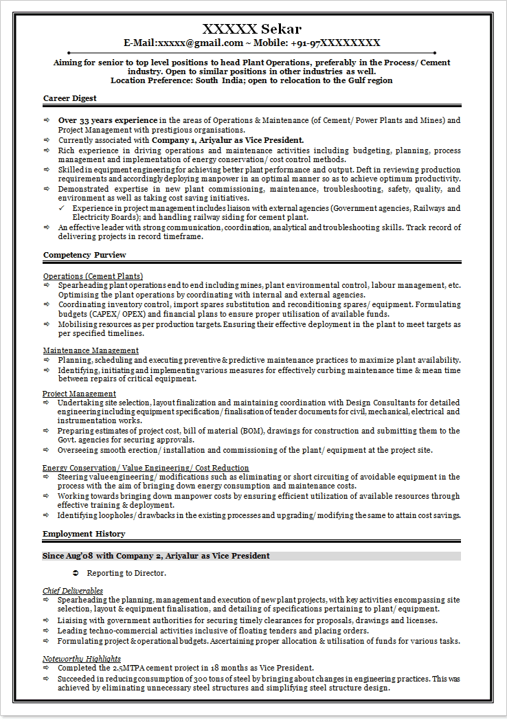 Sample Resume Format For Fresh Graduates Two Page Format B Tech Perfect  Resume Example Resume And