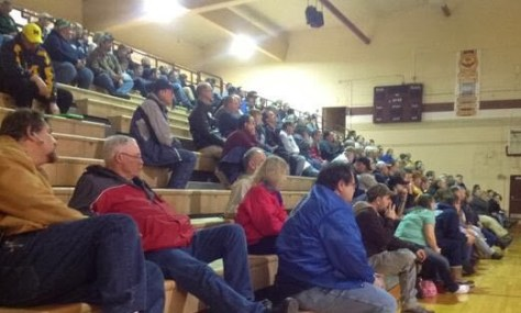 2014 storm spotter training at Columbia City High School