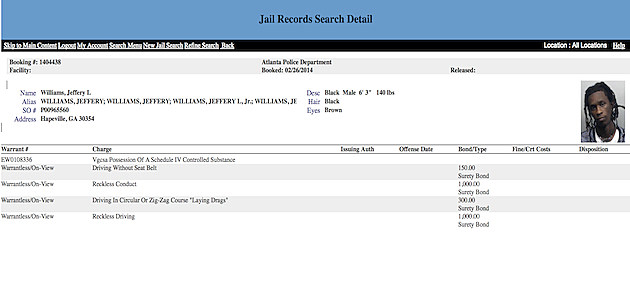 Young Thug Jail Record