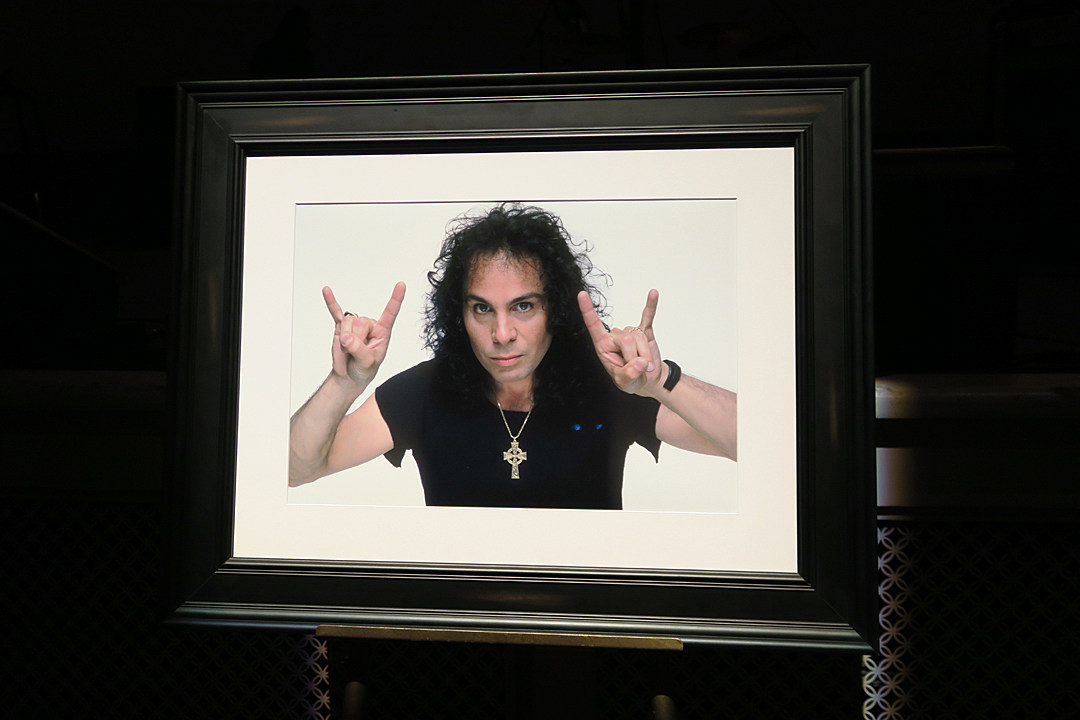 Many of Ronnie James Dio's peers and loved ones gathered to celebrate his memory at a memorial service Saturday at Forest Lawn Cemetery.