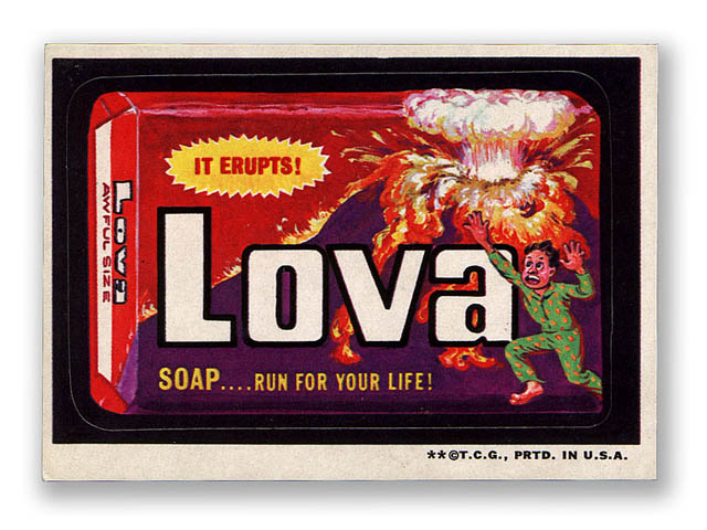 Magasin Stickers Real Product For Wacky Package Lava Soap