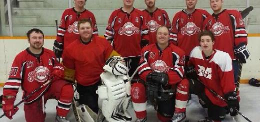 A five-team hockey tournament took place in Invermay on Jan 18. The Margo Brewers were the A-side champs, narrowly beating the Rama Rams 6-4. Playing for the Brewers were (left to right, back row) Tyler Gable, Evan Johnson, Damon Johnson, Ambrose Allin, Ian Domeij, (front row) Lee Johnson, Kelsey Jones, Jason Bansley and Austin Bansley. (Photo courtesy Judith Bansley)
