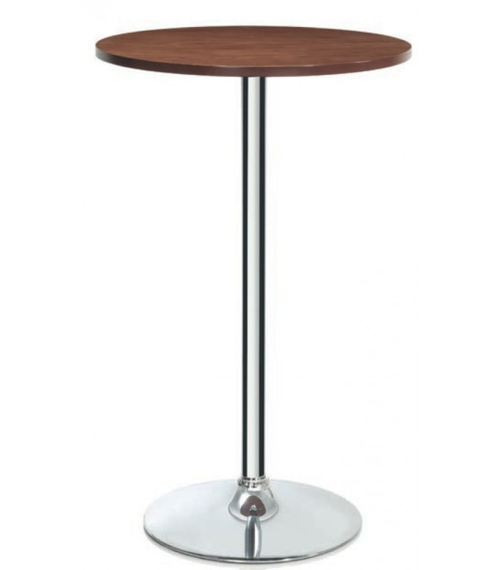 Table Haute Ronde Table Haute De Bar Ronde Design Bois Et Chrome