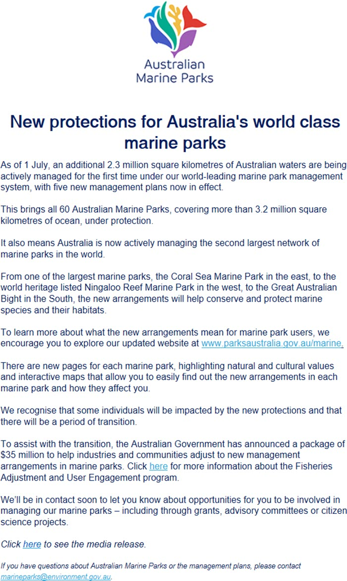 Square Habitat 35 Important Marine Parks Announcement Wagfa