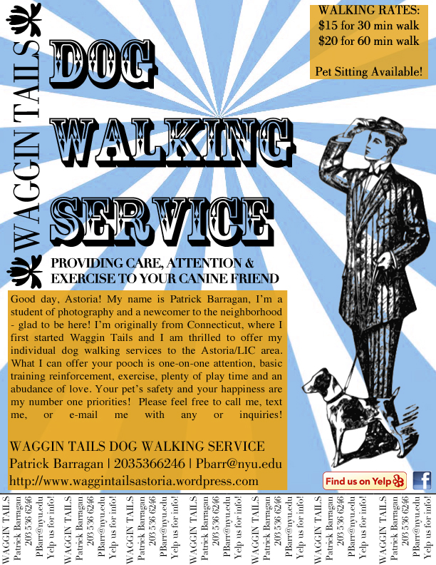 New Flyer! Waggin Tails Dog Walking Service