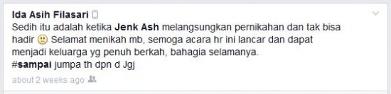 Update Status Ida Asih 2 Asih, 2 Hasan