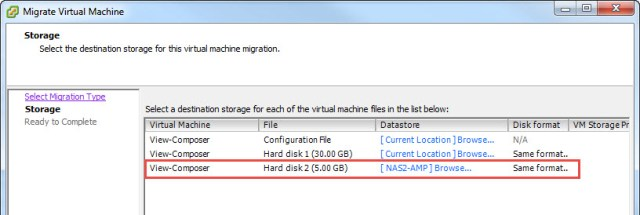 You can migrate the entire VM or just the cleaned up disk