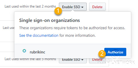 Make sure to authenticate your token with your organization's SSO provider.