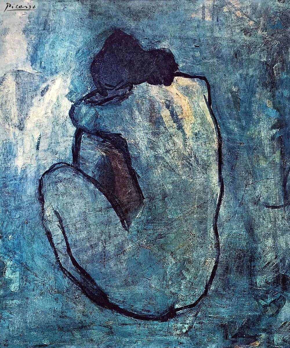 Pablo Picasso Obras Jpg Blue Nude By Pablo Picasso 1881 1973 Spain Art Reproduction