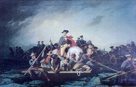 Washington Crossing the Delaware, (painting), 1856 by George Cale
