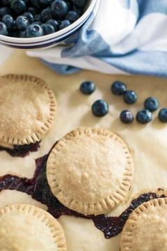 Homemade blueberry hand pies recipe
