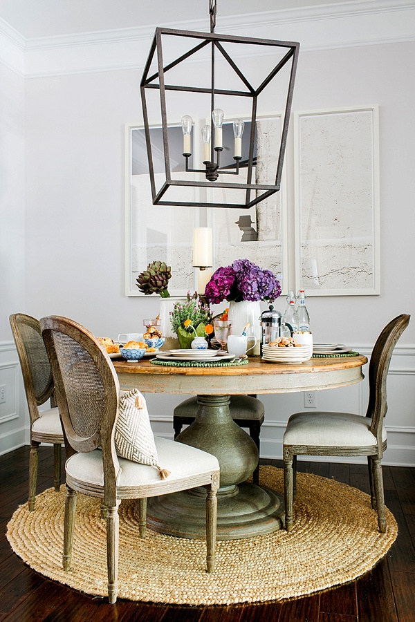 A dainty French bistro table via Waiting on Martha