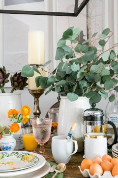 A cheerful brunch tablescape with World Market, Waiting on Martha