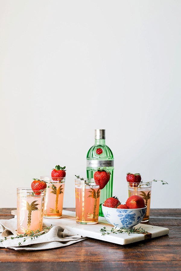 Strawberry gin cocktail recipe by Waiting on Martha
