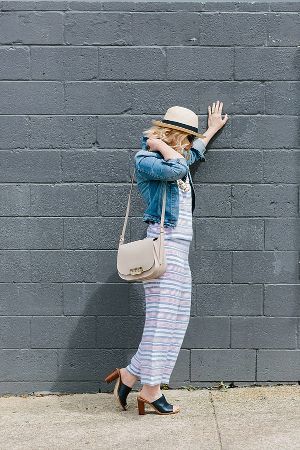 Striped linen outfit via Waiting on Martha