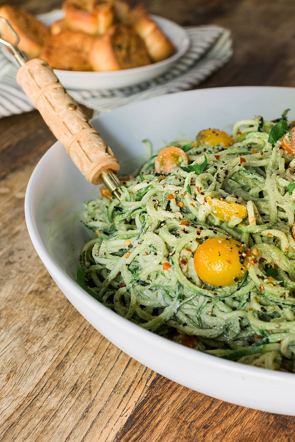 Homemade Zoodles with Cherry Tomatoes, Recipe by @waitingonmartha