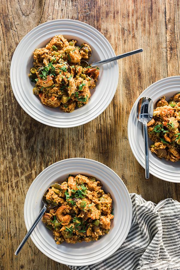 Healthy Jambalaya recipe via @waitingonmartha