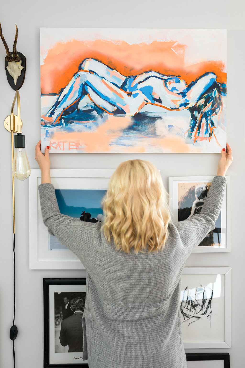How To Hang A Gallery Wallin 5 Easy Steps, Waiting On Martha