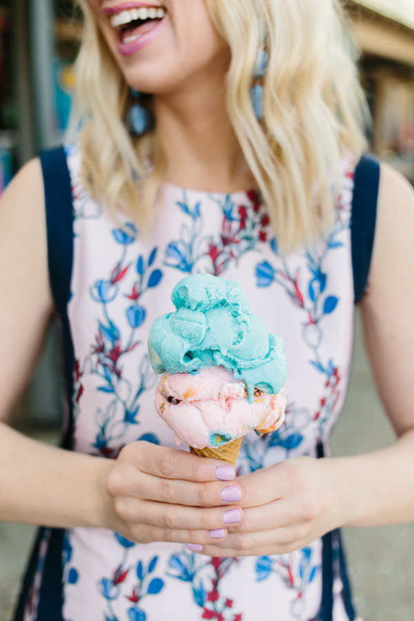 Draper James dress with ice cream cone, waitingonmartha.com