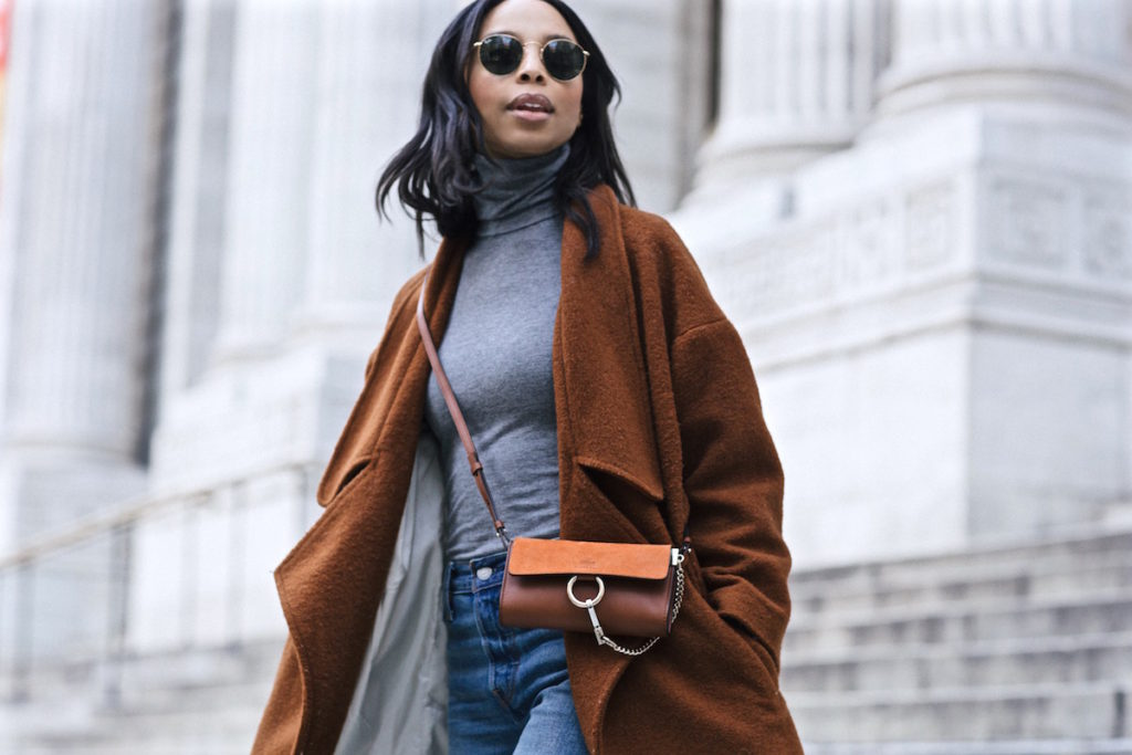 Oversized Maxi Coat Chloe Faye Bag
