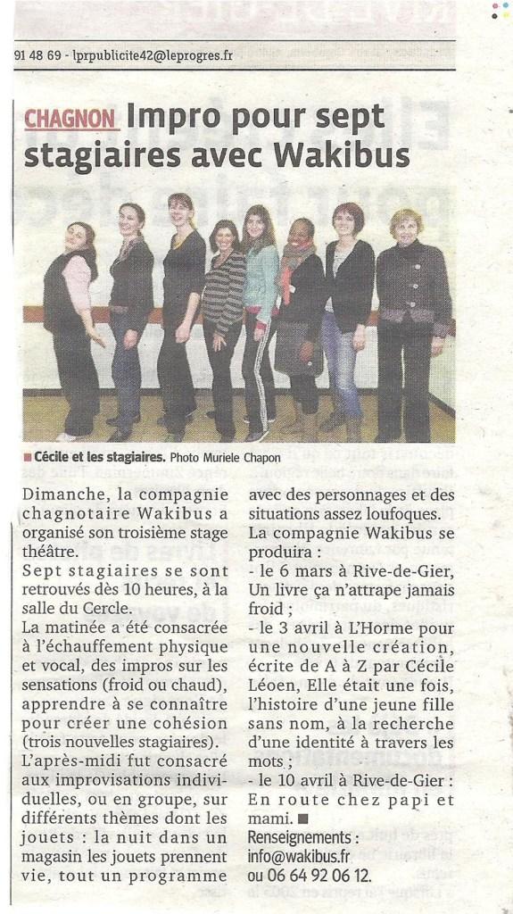 Stage théâtre -19/02/13