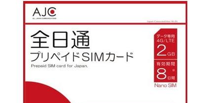 AJC(全日通)プリペイドSIM