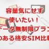 格安SIM 無制限プラン比較ランキング