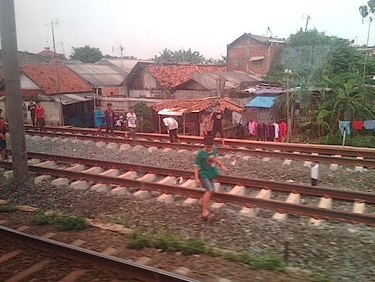 バンドゥンの電車