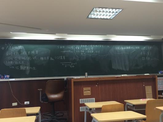 台湾大学の教室