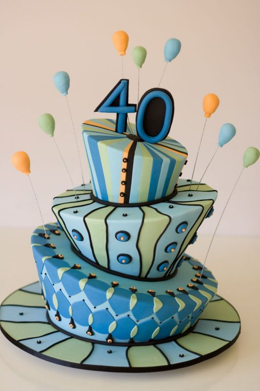 SaveEnlarge Cake Decorating Ideas For A 40th Birthday Ifoodtv