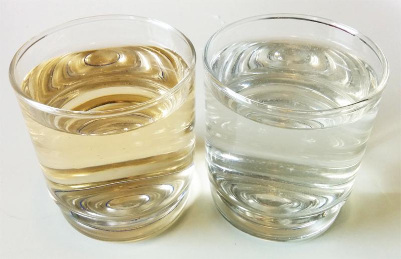 Iodine purified water