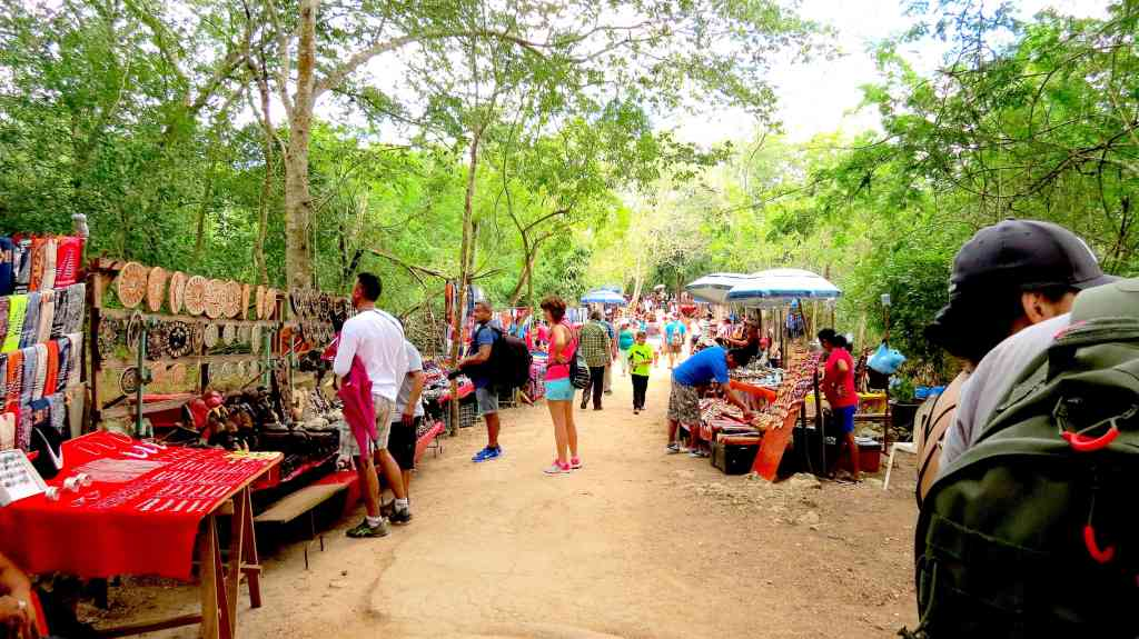 Vendors in Chichen Itza