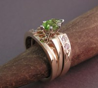 Jessas Peridot Wedding Rings