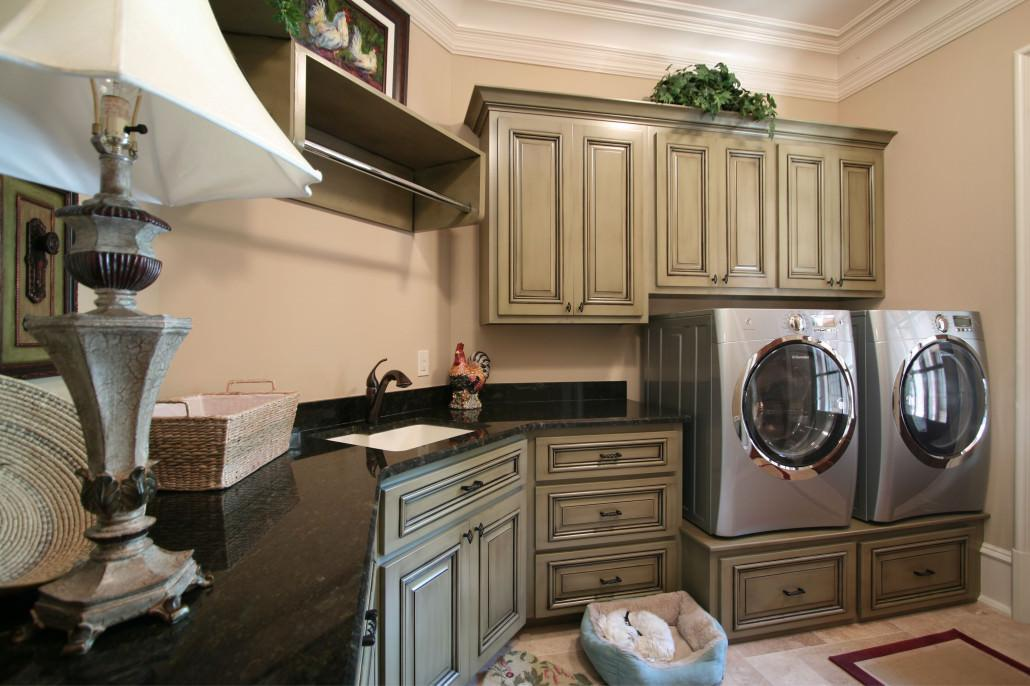 Galley Kitchen Ideas Laundry Room Cabinets By Walker Woodworking