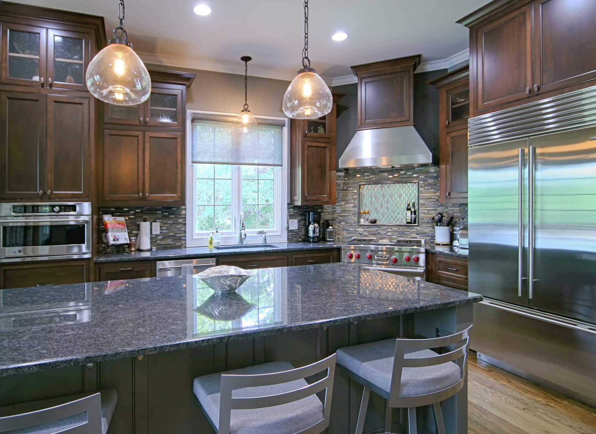 Kitchen And Bath Design Education Classic Stained Cabinets Transitional Cabinets Walker
