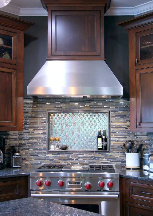 Galley Kitchen Design With Island Classic Stained Cabinets - Transitional Cabinets | Walker