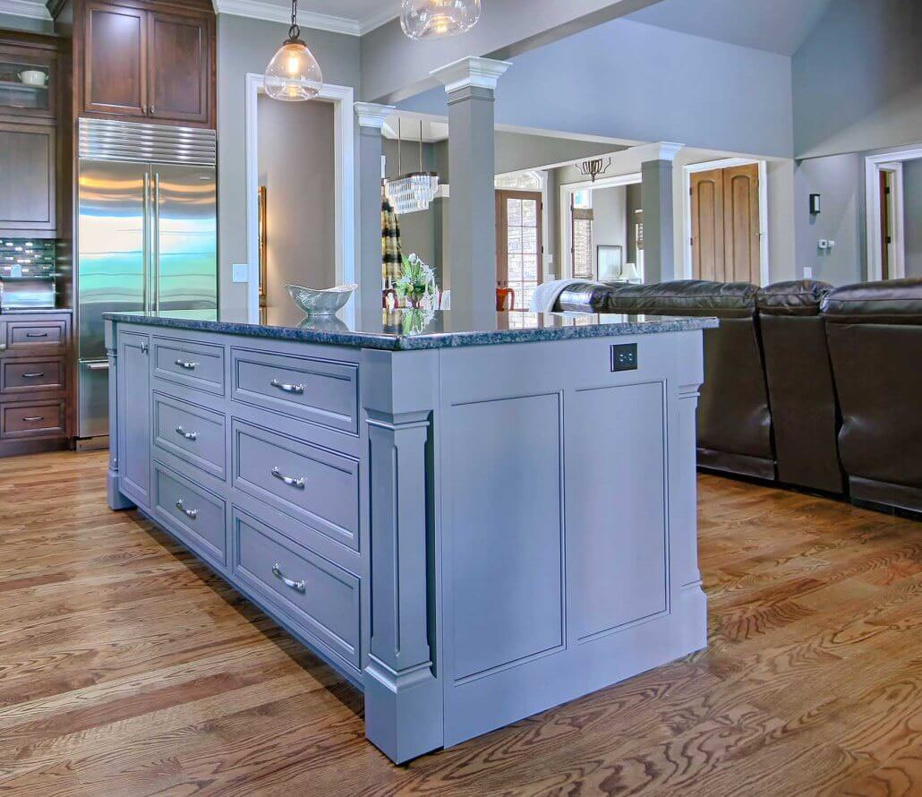 Wood Kitchen Cabinets With Painted Island Classic Stained Cabinets Transitional Cabinets Walker