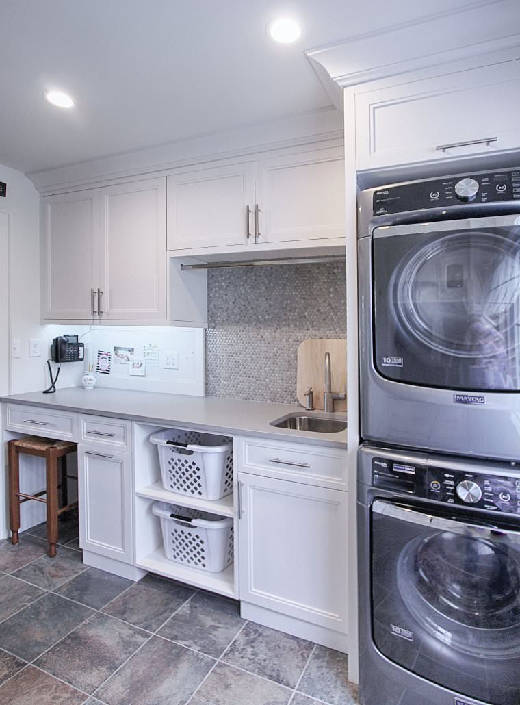Renovation Remodel Laundry Room Cabinets By Walker Woodworking