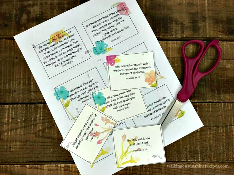 Scripture Cards Printable Scripture Cards Perfect for Mother\u0027s Day