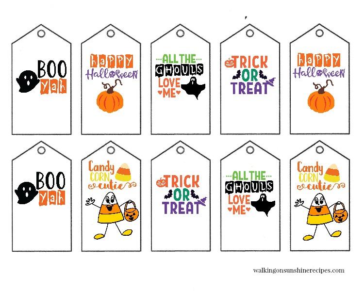Printable Halloween Gift Tags Walking On Sunshine Recipes