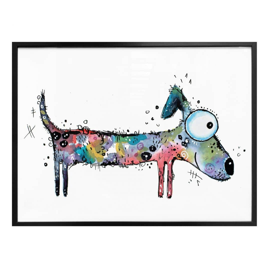 Poster 80x60 Poster Hagenmeyer - Happy Dog | Wall-art.de