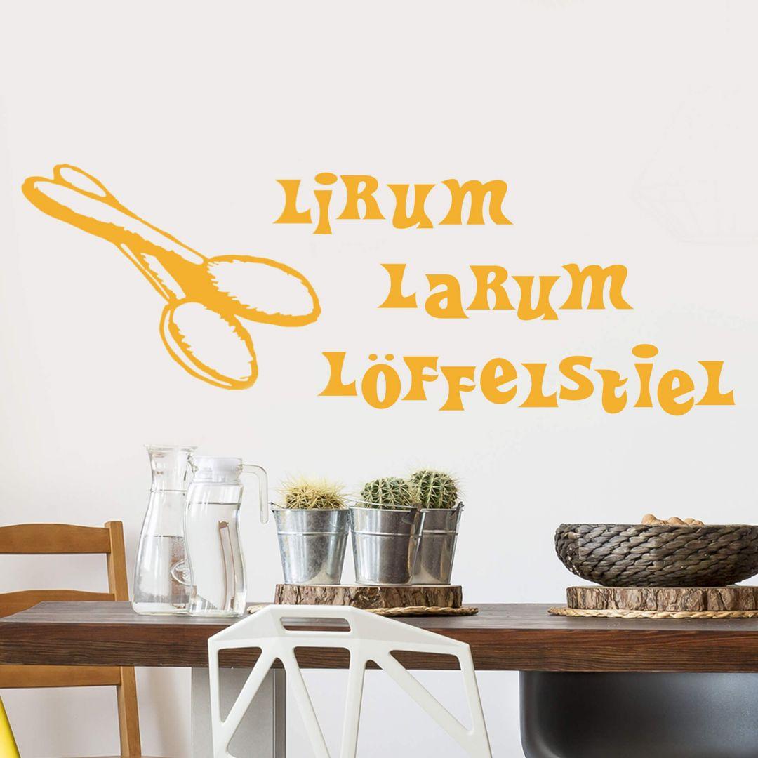 Deko Für Die Küche Lirum Larum Löffelstiel Wandtattoo