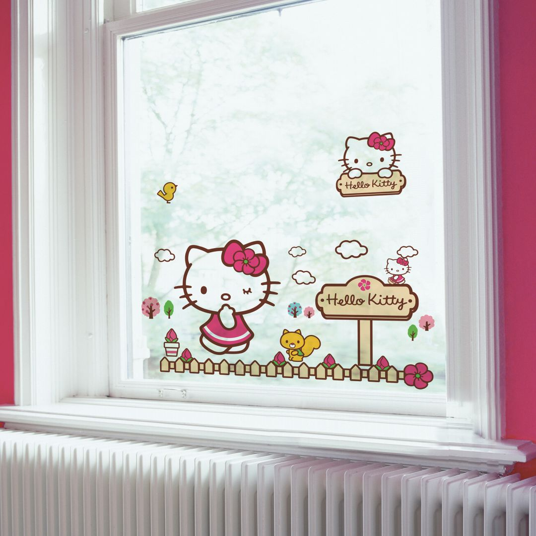 Hello Kitty Kinderzimmer Fenstersticker Hello Kitty