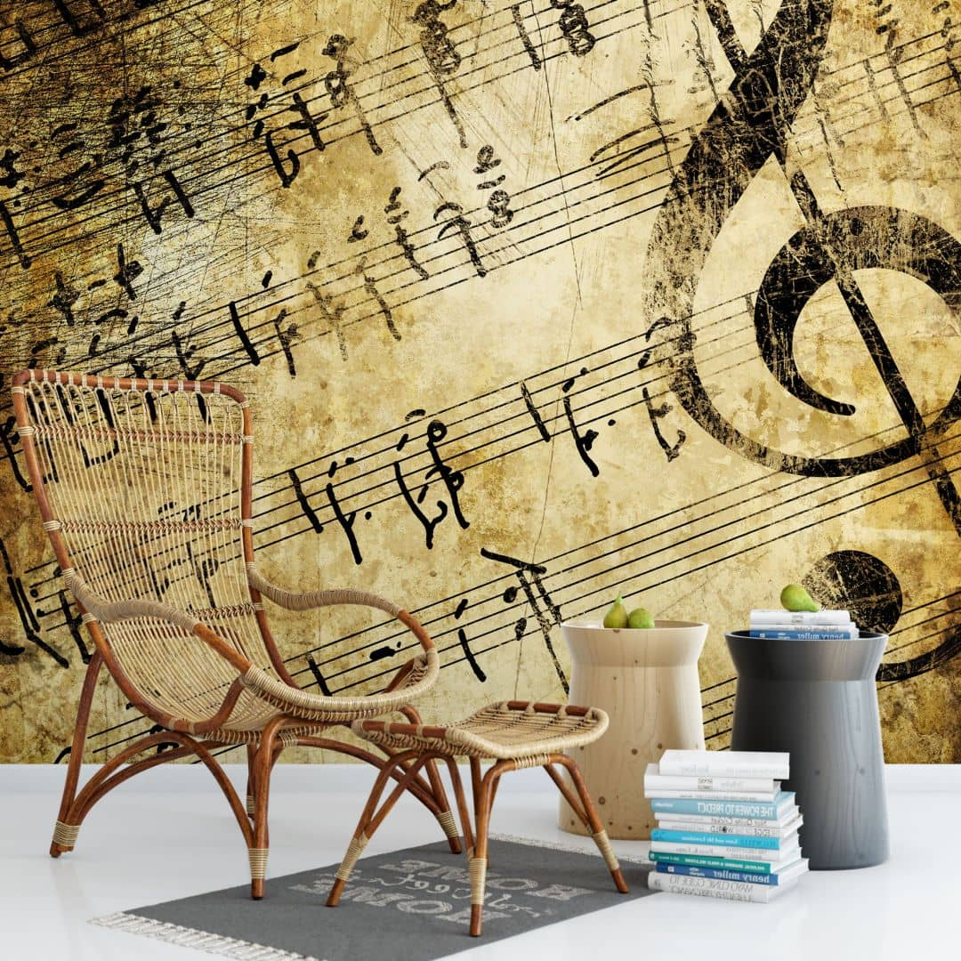 Musica Da Camera Da Letto Fotomurale Musica Wall Art It